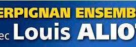 Logo Perpignan Ensemble avec Louis Aliot provisoire