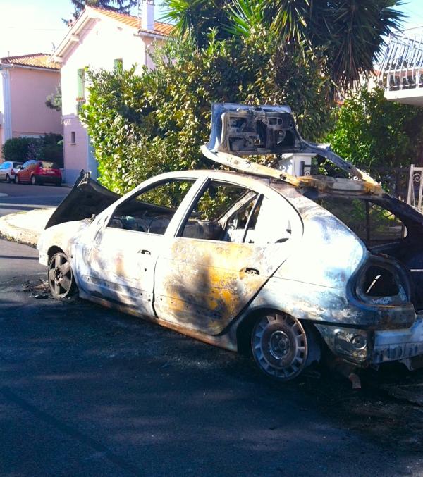 Vehicule incendie Perpignan