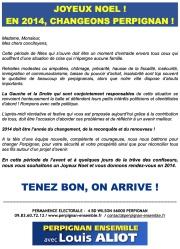 Joyeux noel en 2014 changeons Perpignan avec Louis Aliot