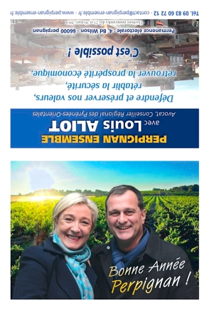 Calendrier 2014 - Bonne Annee Perpignan 2014 - Louis Aliot et Marine Le Pen