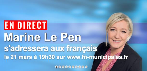 En Direct ce soir - Marine Le Pen s'adressera aux Français